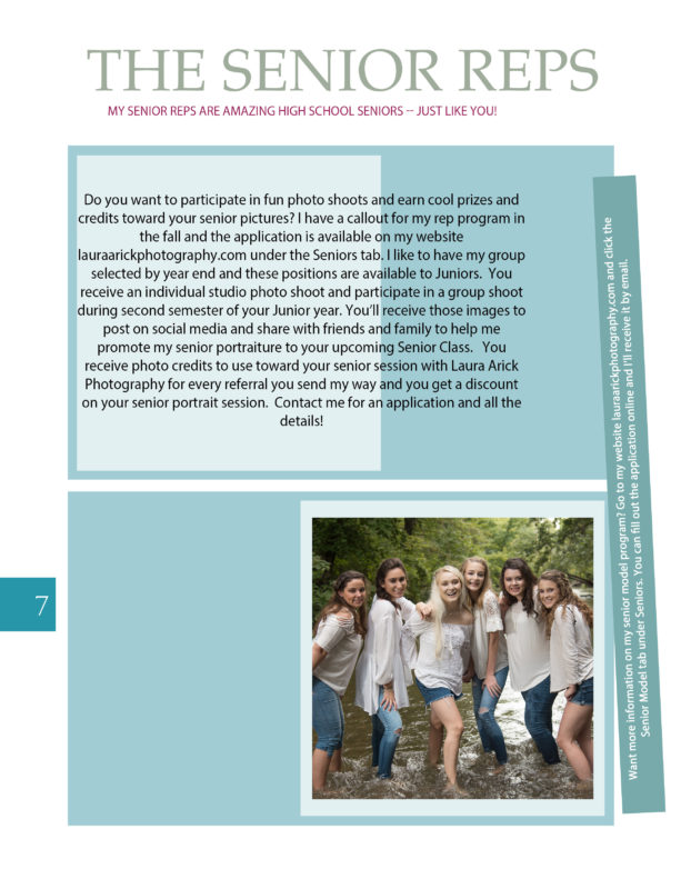 Senior Pictures Style Guide Page 7