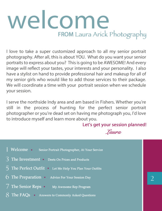 Senior Pictures Style Guide Page 2