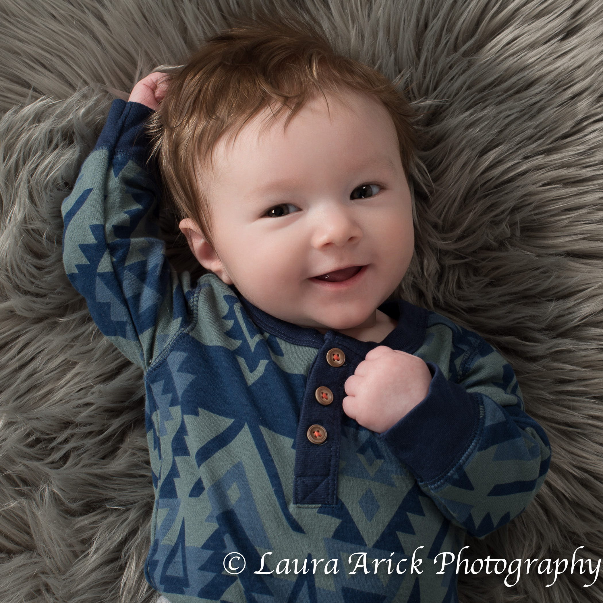 Newborn Pictures Fishers | 3 month old Baby L | Laura Arick Photography