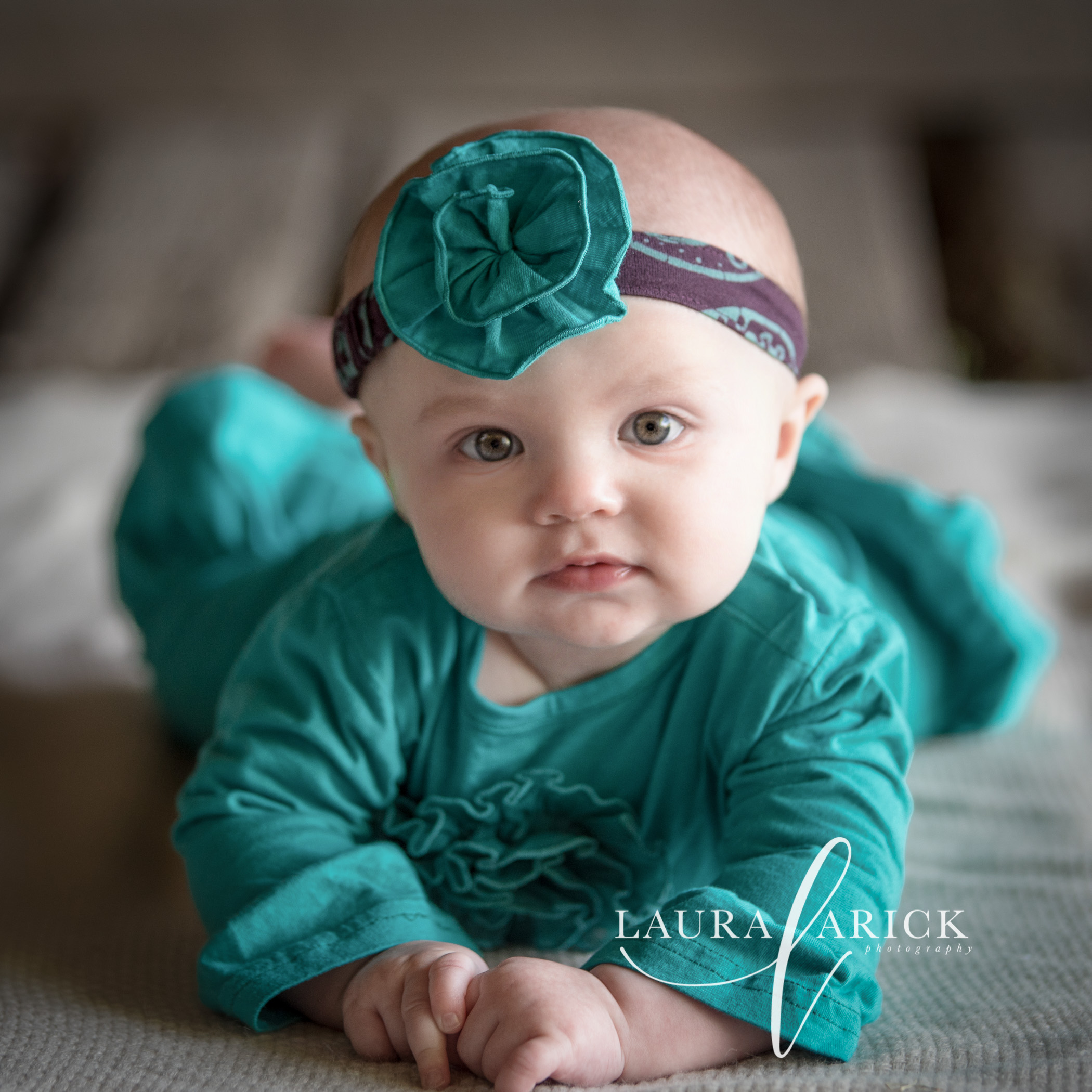 6 Month Milestone Session | Baby E | Laura Arick Photography