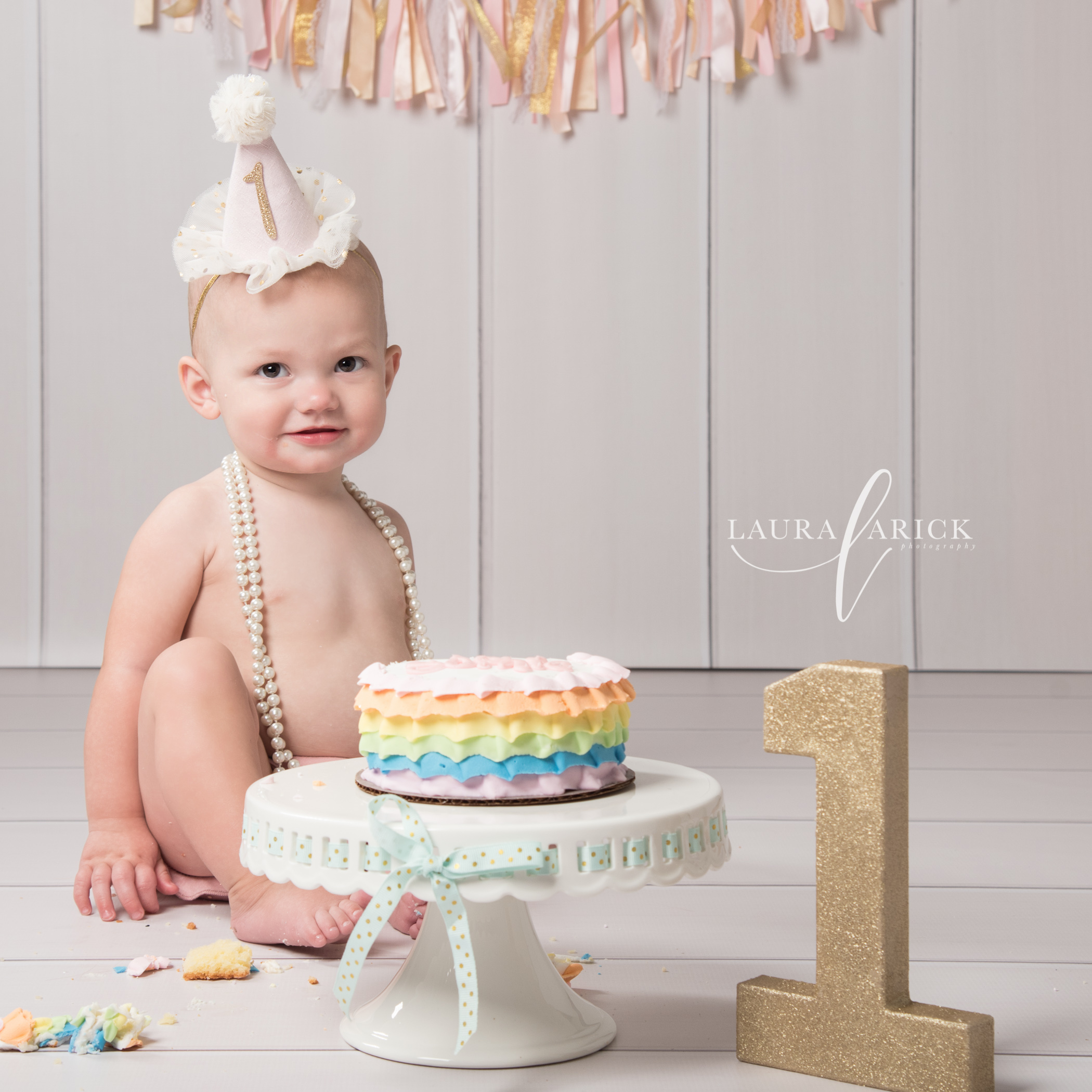 Indianapolis Baby Girl Pictures | One year smash cake session